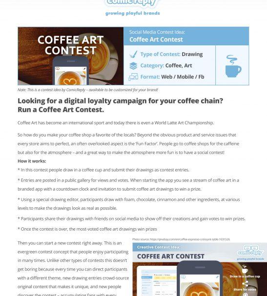 Coffee-Art-Contest LocalGoodz.com Toronto Buy Local Shop Local