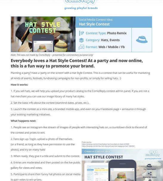 Hat-Stryle-Contest LocalGoodz.com Toronto Buy Local Shop Local