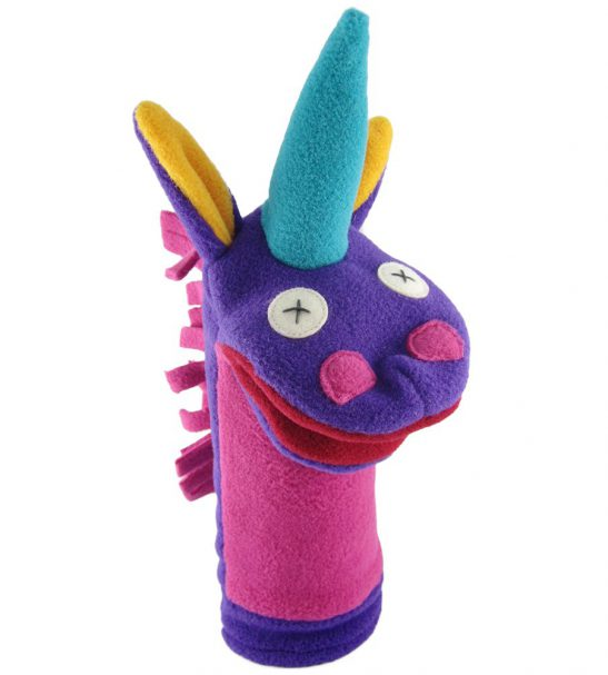 Cate and Levi Fantasy and Imagination Hand Puppets-Set of 4 Includes 2 Unicorns and 2 Dragons2