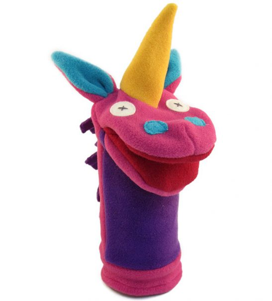 Cate and Levi Fantasy and Imagination Hand Puppets-Set of 4 Includes 2 Unicorns and 2 Dragons4