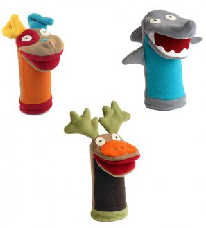 Cate and Levi Favorites Hand Puppets-Set of Three Includes Dog, Shark and Moose (100% USA Polar Fleece)