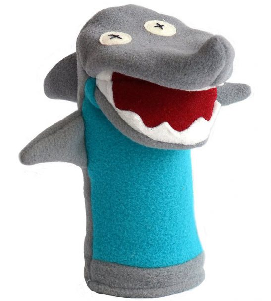 Cate and Levi Favorites Hand Puppets-Set of Three Includes Dog, Shark and Moose (100% USA Polar Fleece)3