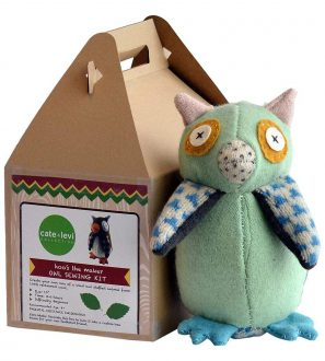 Cate and Levi Handmade Hoo's The Maker Owl Plush Stuffed Animal Making Kit
