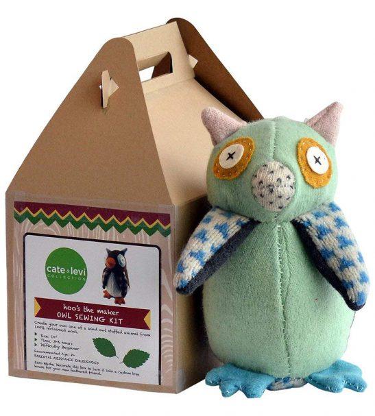 Cate and Levi Handmade Hoo's The Maker Owl Plush Stuffed Animal Making Kit
