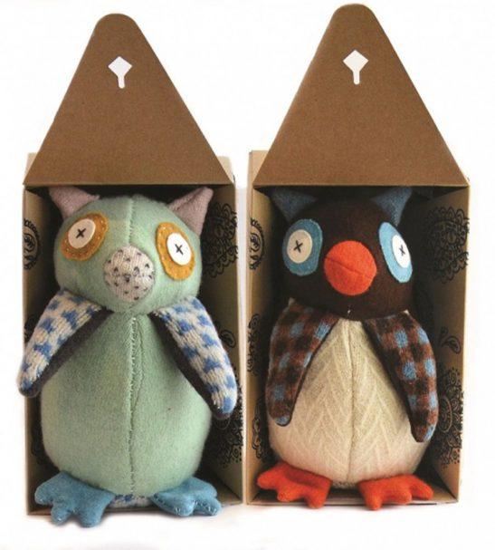Cate and Levi Handmade Hoo's The Maker Owl Plush Stuffed Animal Making Kit2