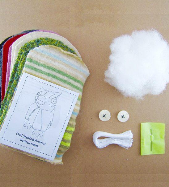 Cate and Levi Handmade Hoo's The Maker Owl Plush Stuffed Animal Making Kit4
