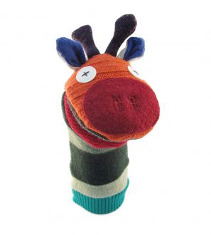 Cate and Levi Handmade Patches the Giraffe Hand Puppet