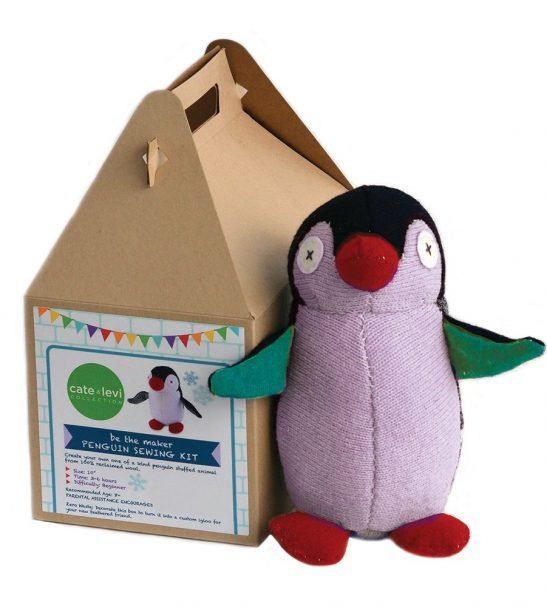Cate and Levi Handmade Penguin Plush Stuffed Animal Making Kit